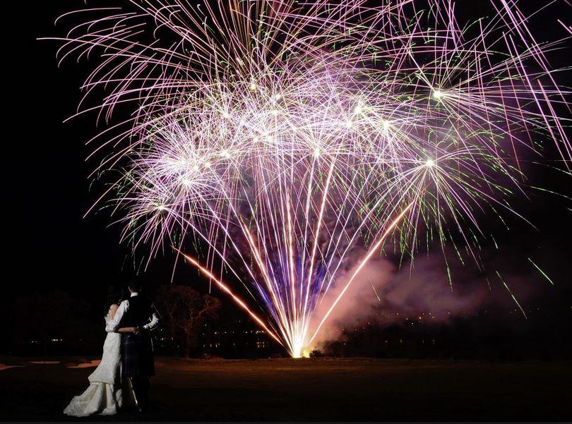 Chase Lane Fireworks Wedding Fireworks Display
