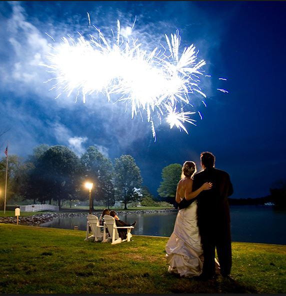 Chase Lane Fireworks Silver wedding fireworks