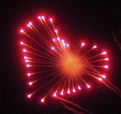 Chase Lane Fireworks Love heart shell Wedding fireworks