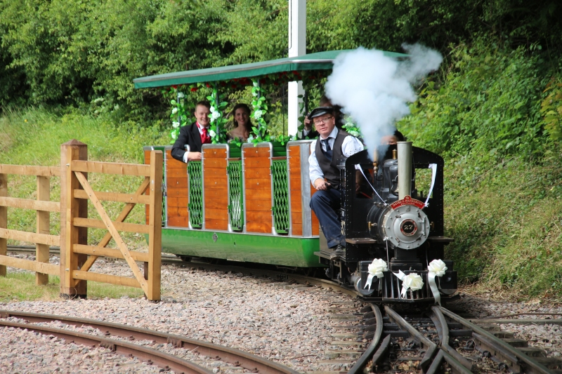 Perrygrove railway wedding venue steam train